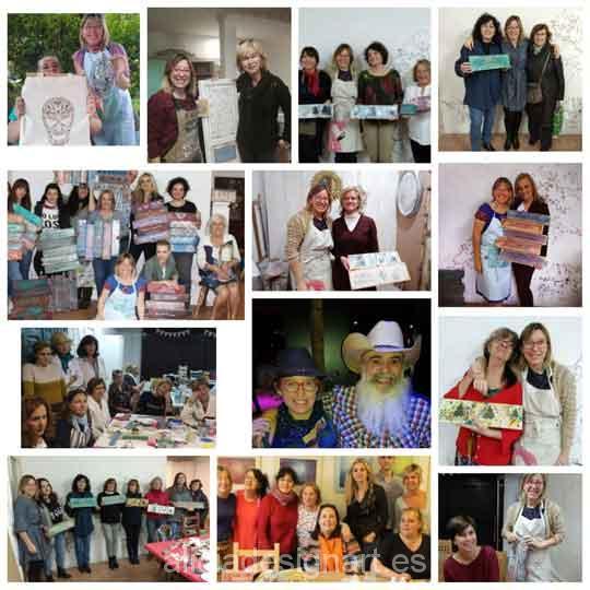 Realizaciones, cursos de decoración y workshops 2018 - Taller de decoración de muebles antiguos Madrid. Muebles de colores, productos y cursos.