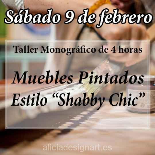 Curso taller de decoración de muebles estilo Shabby Chic 190209 - Taller decoracíon de muebles antiguos Madrid estilo Shabby Chic, Provenzal, Rómantico, Nórdico