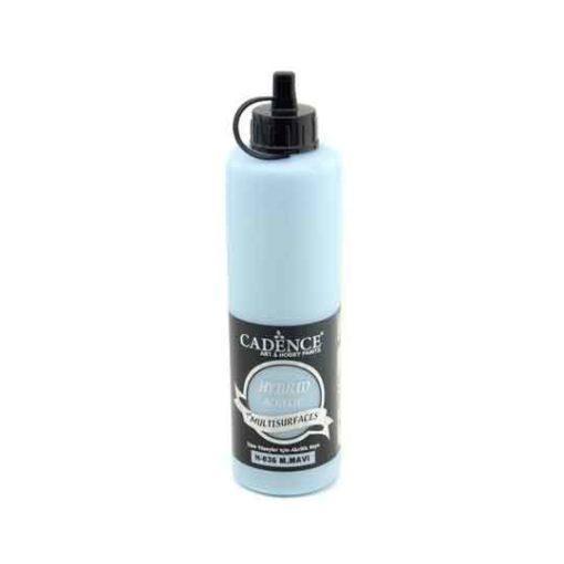 Pintura acrílica Cadence Hybrid Azul Suave H036 500ml - Decoración de muebles antiguos estilo Shabby Chic, Provenzal, Romántico, Nórdico