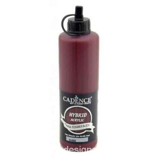 Pintura acrílica Cadence Hybrid Rojo Cereza H056 500ml - Decoración de muebles antiguos estilo Shabby Chic, Provenzal, Romántico, Nórdico