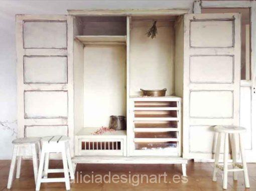 Mueble decorado por encargo: Armario estilo Shabby Chic Lino