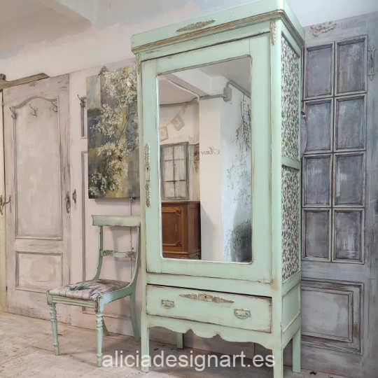 Mueble pintado con pintura acrílica Cadence Hybrid Verde Pastel H045 - Decoración de muebles antiguos estilo Shabby Chic, Provenzal, Romántico, Nórdico
