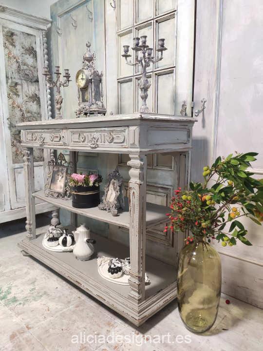 Mueble pintado con pintura acrílica Cadence Hybrid Gris Visón H063 - Decoración de muebles antiguos estilo Shabby Chic, Provenzal, Romántico, Nórdico