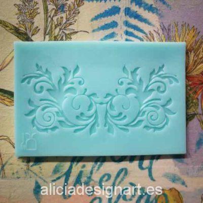 Molde silicona con ramas para motivos decorativos en relieve - Decoración de muebles antiguos estilo Shabby Chic, Provenzal, Romántico, Nórdico