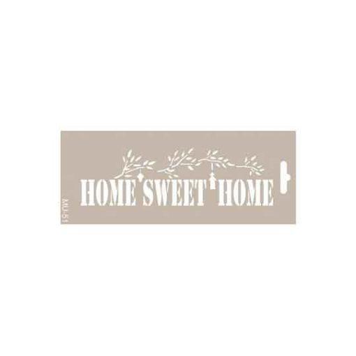 Plantilla de stencil estarcido Mix Media Home Sweet Home de Cadence - Taller decoración de muebles antiguos Madrid estilo Shabby Chic, Provenzal, Romántico, Nórdico
