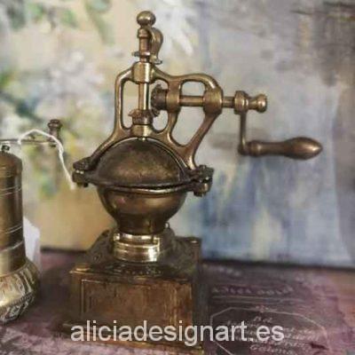 Molinillo decorativo antiguo de metal para decorar tus espacios - Taller decoración de muebles antiguos Madrid estilo Shabby Chic, Provenzal, Romántico, Nórdico