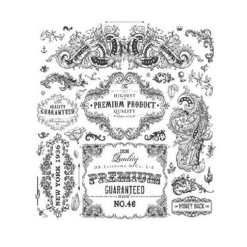 Papel para transfer Label Premium de Cadence ref 888681 - Taller decoración de muebles antiguos Madrid estilo Shabby Chic, Provenzal, Romántico, Nórdico