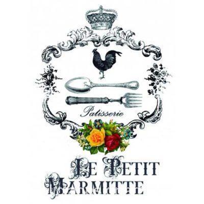 Papel para transfer Petit Marmite de Cadence Home Decor ref HDT016 - Taller decoración de muebles antiguos Madrid estilo Shabby Chic, Provenzal, Romántico, Nórdico