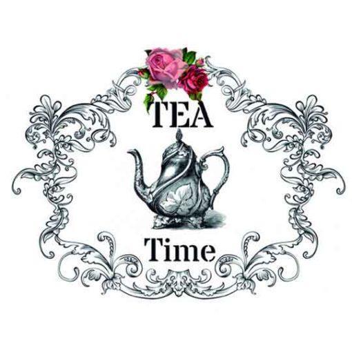Papel para transfer Tea Time de Cadence Home Decor ref HDT015 - Taller decoración de muebles antiguos Madrid estilo Shabby Chic, Provenzal, Romántico, Nórdico