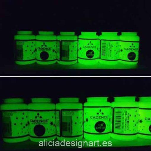 Pintura para decoración fotoluminiscente Glow In The Dark color verde claro de Cadence GLO578 - Taller decoración de muebles antiguos Madrid estilo Shabby Chic, Provenzal, Romántico, Nórdico