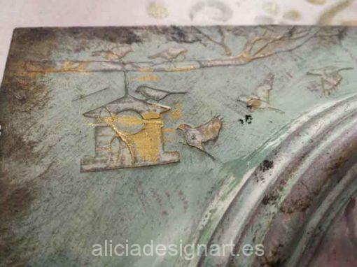 Puerta recuperada y reciclada en colgador decorada con rosa romántica - Decoración de muebles antiguos estilo Shabby Chic, Provenzal, Romántico, Nórdico