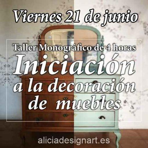 Curso taller de iniciación a la decoración de muebles 190621 - Taller de decoración de muebles antiguos Alicia Designart Madrid