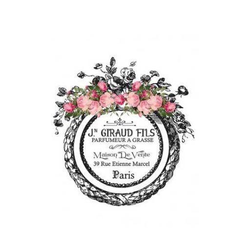 Papel para transfer Giraud fils Parfumeur de Cadence Home Decor ref HDT024 - Taller decoración de muebles antiguos Madrid estilo Shabby Chic, Provenzal, Romántico, Nórdico