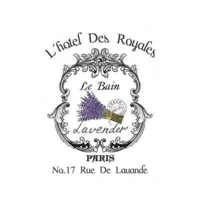 Papel para transfer Hotel des Royales de Cadence Home Decor ref HDT021 - Taller decoración de muebles antiguos Madrid estilo Shabby Chic, Provenzal, Romántico, Nórdico