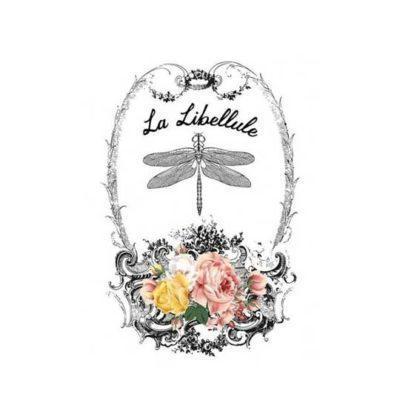 Papel para transfer La Libéllule de Cadence Home Decor ref HDT019 - Taller decoración de muebles antiguos Madrid estilo Shabby Chic, Provenzal, Romántico, Nórdico