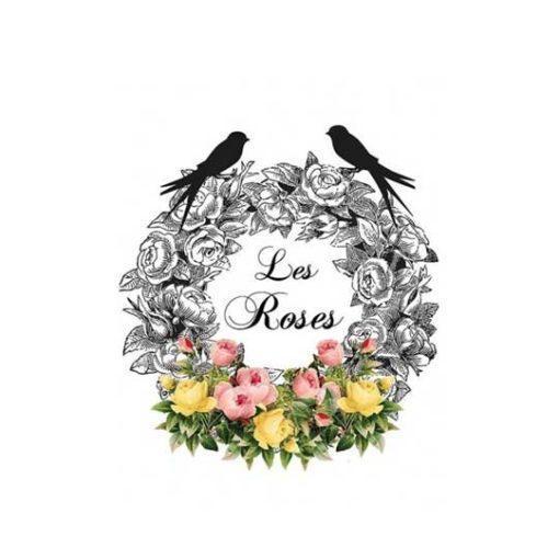 Papel para transfer Les Roses de Cadence Home Decor ref HDT018 - Taller decoración de muebles antiguos Madrid estilo Shabby Chic, Provenzal, Romántico, Nórdico