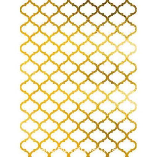 Papel de arroz con fondo oro Morrocco de Cadence ref ORO018 - Taller decoración de muebles antiguos Madrid estilo Shabby Chic, Provenzal, Romántico, Nórdico