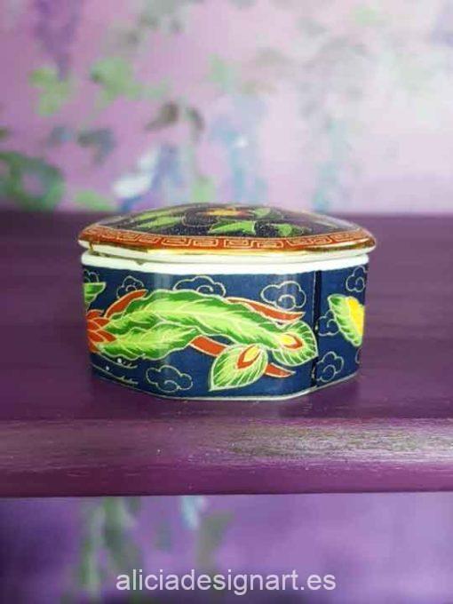 Lote de 12 auténticas cajas japonesas de porcelana - Taller decoración de muebles antiguos Madrid estilo Shabby Chic, Provenzal, Romántico, Nórdico