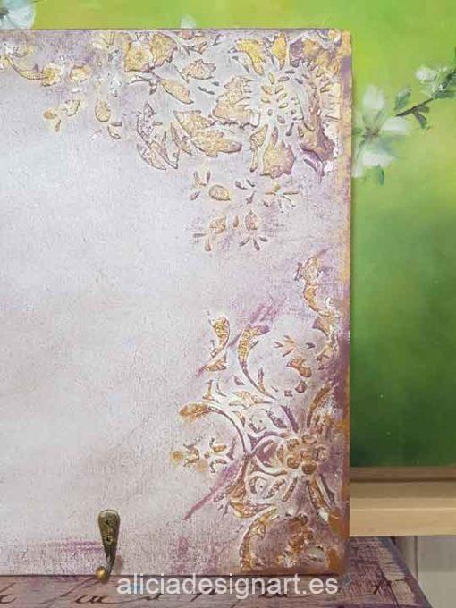 Colgadores para collares o pañuelos decorado estilo Shabby chic - Decoración de muebles antiguos estilo Shabby Chic, Provenzal, Romántico, Nórdico