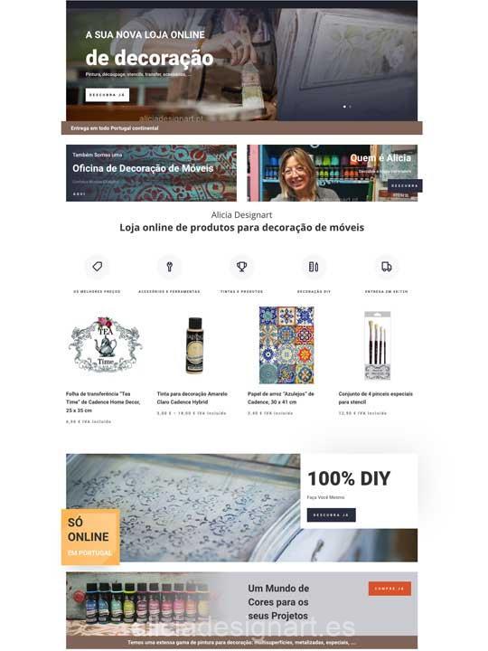 Alicia Designart abre tienda de decoración en Portugal - Taller de decoración de muebles antiguos en Madrid