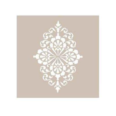 Plantilla de stencil estarcido con Aplique Floral Grande de Cadence AS420 - Taller decoración de muebles antiguos Madrid estilo Shabby Chic, Provenzal, Romántico, Nórdico