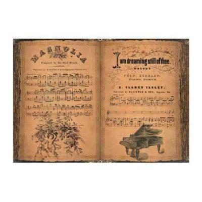 Papel de arroz con partitura de piano de Cadence ref PA192 - Taller decoración de muebles antiguos Madrid estilo Shabby Chic, Provenzal, Romántico, Nórdico