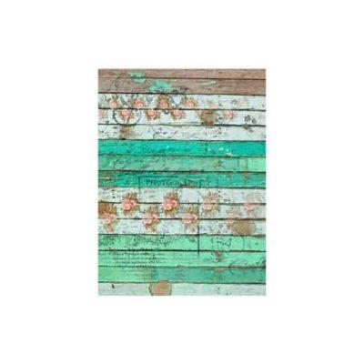 Papel de arroz tablas verdes desgastadas de Cadence ref PA443 - Taller decoración de muebles antiguos Madrid estilo Shabby Chic, Provenzal, Romántico, Nórdico