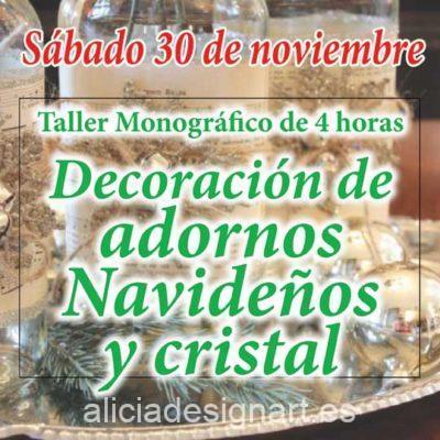 Curso taller de decoración de adornos navideños y cristal 191130 - Taller de decoración de muebles antiguos Alicia Designart Madrid