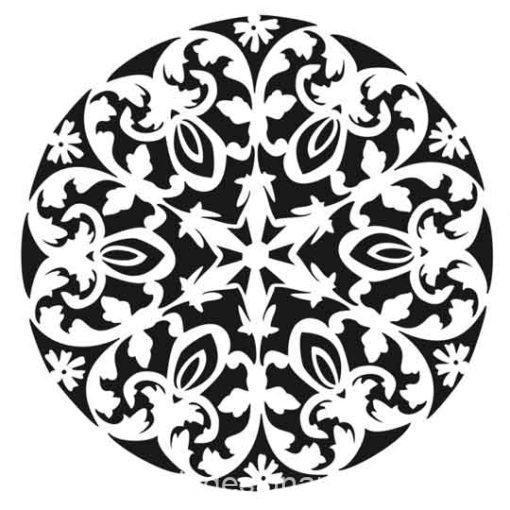 Plantilla de stencil estarcido XL Mandala 2 de Cadence Home Decor HD111 - Taller decoración de muebles antiguos Madrid estilo Shabby Chic, Provenzal, Romántico, Nórdico