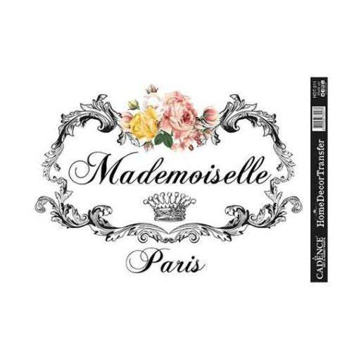 Papel para transfer Mademoiselle Paris de Cadence Home Decor ref HDT011 - Taller decoración de muebles antiguos Madrid estilo Shabby Chic, Provenzal, Romántico, Nórdico