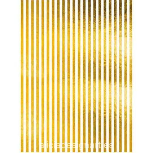Papel de arroz con líneas en pan de oro de Cadence ref ORO025 - Taller decoración de muebles antiguos Madrid estilo Shabby Chic, Provenzal, Romántico, Nórdico