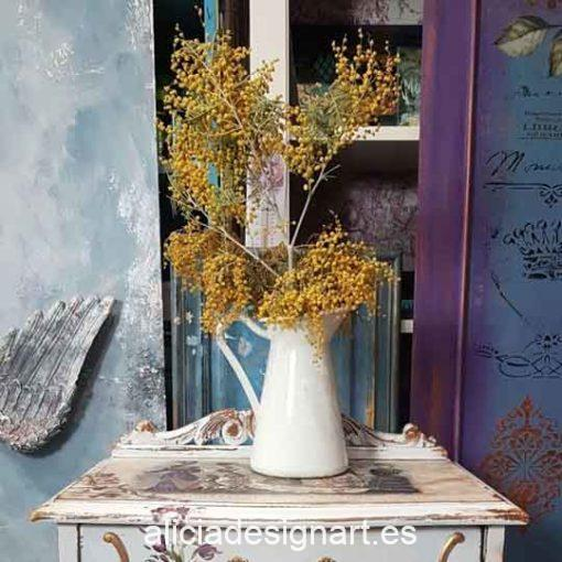 Jarrita 20 cm de esmalte decorada estilo Shabby Chic - Taller decoración de muebles antiguos Madrid estilo Shabby Chic, Provenzal, Romántico, Nórdico