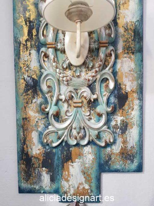 Cenefa grande, en resina de poliuretano para decorar, Cadence 1889 - Taller decoración de muebles antiguos Madrid estilo Shabby Chic, Provenzal, Romántico, Nórdico