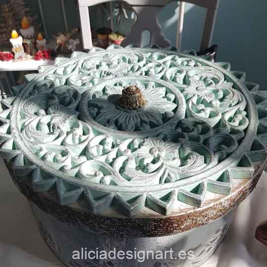 Mandala 40cm, en resina de poliuretano para decorar, Cadence 1897 - Taller decoración de muebles antiguos Madrid estilo Shabby Chic, Provenzal, Romántico, Nórdico