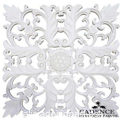 Placa decorativa, en resina de poliuretano para decorar, Cadence 1900 - Taller decoración de muebles antiguos Madrid estilo Shabby Chic, Provenzal, Romántico, Nórdico