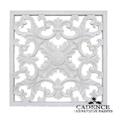 Placa decorativa 3, en resina de poliuretano para decorar, Cadence 1898 - Taller decoración de muebles antiguos Madrid estilo Shabby Chic, Provenzal, Romántico, Nórdico