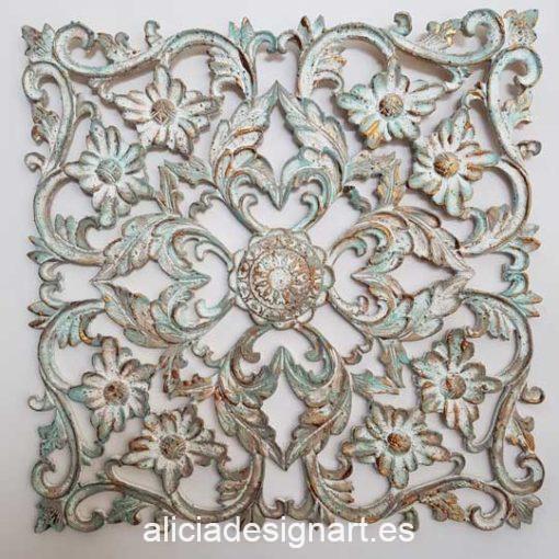 Placa decorativa grande 4, en resina de poliuretano para decorar, Cadence 1920 - Taller decoración de muebles antiguos Madrid estilo Shabby Chic, Provenzal, Romántico, Nórdico