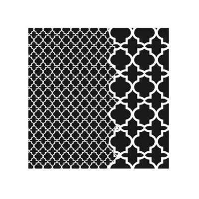 Plantilla de stencil estarcido Midi con 2 fondos de Cadence Home Decor HDM97 - Taller decoración de muebles antiguos Madrid estilo Shabby Chic, Provenzal, Romántico, Nórdico