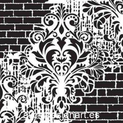 Plantilla de stencil steampunk estarcido XL Grunge Collection de Cadence GCS02 - Taller decoración de muebles antiguos Madrid estilo Shabby Chic, Provenzal, Romántico, Nórdico