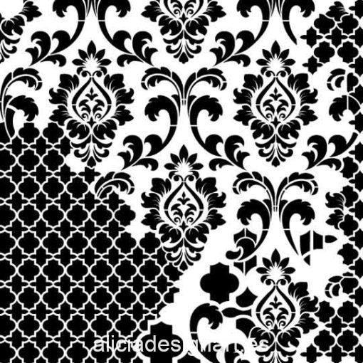 Plantilla de stencil steampunk estarcido Grunge Midi de Cadence GCSS001 - Taller decoración de muebles antiguos Madrid estilo Shabby Chic, Provenzal, Romántico, Nórdico