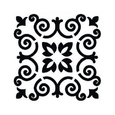 Plantilla de stencil estarcido con baldosa hidráulica de Cadence Home Decor TCS004 - Taller decoración de muebles antiguos Madrid estilo Shabby Chic, Provenzal, Romántico, Nórdico