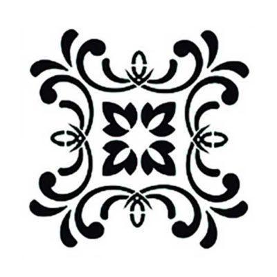 Plantilla de stencil estarcido con baldosa hidráulica de Cadence Home Decor TCS007 - Taller decoración de muebles antiguos Madrid estilo Shabby Chic, Provenzal, Romántico, Nórdico
