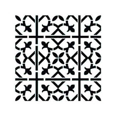 Plantilla de stencil estarcido con baldosa hidráulica de Cadence Home Decor TCS013 - Taller decoración de muebles antiguos Madrid estilo Shabby Chic, Provenzal, Romántico, Nórdico