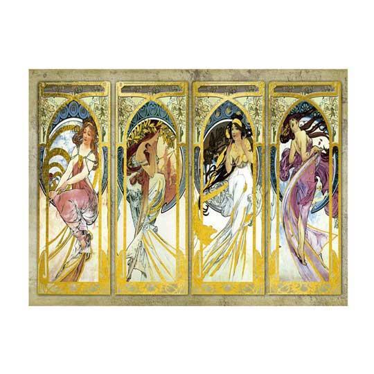 Papel de arroz Art Nouveau 2 y detalles en pan de oro de Cadence ref ORO003 - Taller decoración de muebles antiguos Madrid estilo Shabby Chic, Provenzal, Romántico, Nórdico