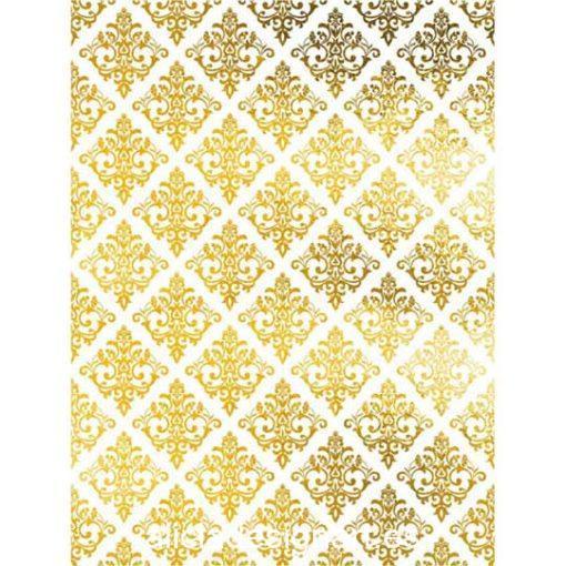Papel de arroz con motivos barrocos en pan de oro de Cadence ref ORO020 - Taller decoración de muebles antiguos Madrid estilo Shabby Chic, Provenzal, Romántico, Nórdico
