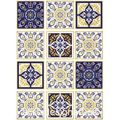 Papel de arroz Ethnic 43 con detalles en pan de oro de Cadence ref PPO47 - Taller decoración de muebles antiguos Madrid estilo Shabby Chic, Provenzal, Romántico, Nórdico