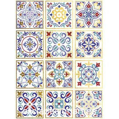 Papel de arroz Ethnic 51 con detalles en pan de oro de Cadence ref PPO51 - Taller decoración de muebles antiguos Madrid estilo Shabby Chic, Provenzal, Romántico, Nórdico
