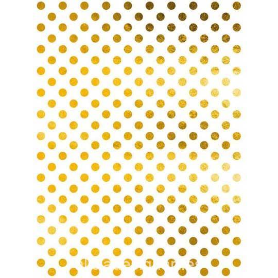Papel de arroz con puntos en pan de oro de Cadence ref ORO024 - Taller decoración de muebles antiguos Madrid estilo Shabby Chic, Provenzal, Romántico, Nórdico