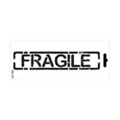 Plantilla de stencil estarcido Mix Media con sello Fragile distress de Cadence MU081 - Taller decoración de muebles antiguos Madrid estilo Shabby Chic, Provenzal, Romántico, Nórdico