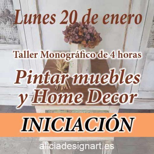 Curso taller de iniciación a la decoración de muebles y Home Decor 20 de enero 2020 - Taller de decoración de muebles antiguos Alicia Designart Madrid